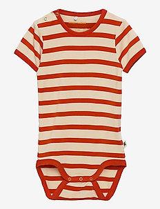 Stripe ss body - kurzärmelige - red