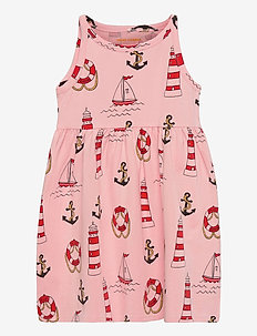 Lighthouse aop tank dress - jurken & rokjes - pink