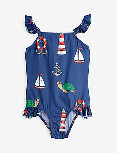Turtle float wing uv swimsuit - swimsuits - navy