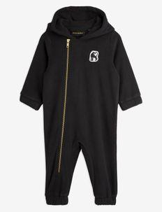 Microfleece onesie - fleece sets - black