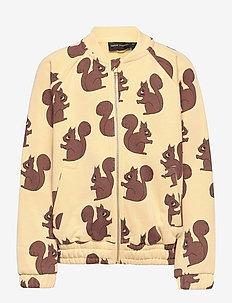 Squirrel aop sweatjacket - bomberjacks - yellow
