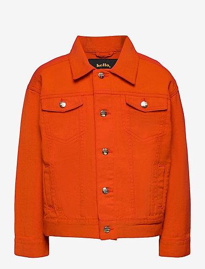 Denim twill teddybear jacket - jeansjacken - red