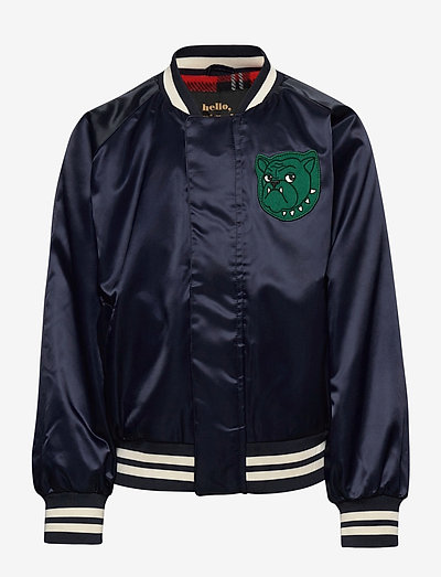 Bulldog baseball jacket - bomberjacks - navy