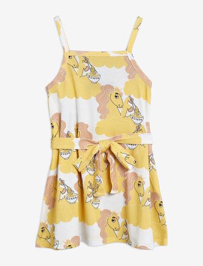 Unicorn noodles tank dress - kjoler & nederdele - yellow