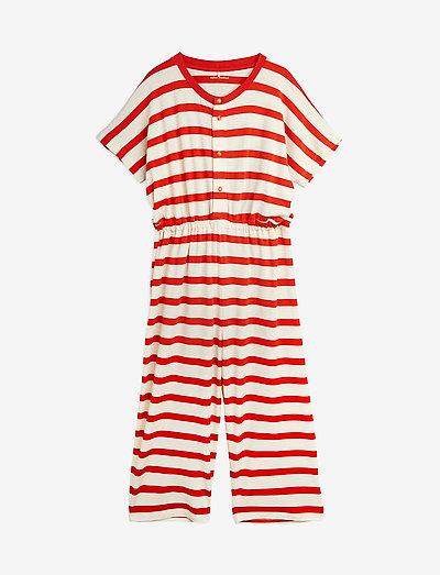 Stripe onesie - pyjamas - red