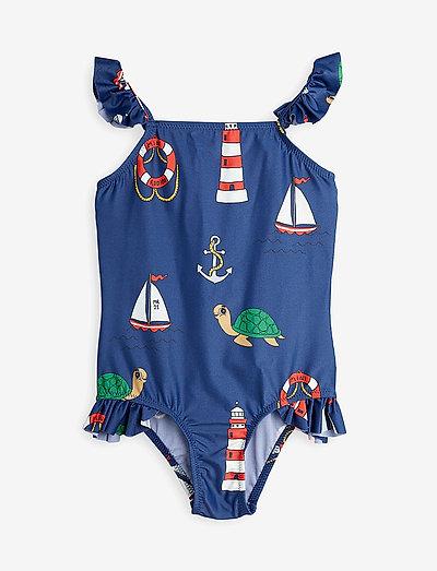 Turtle float wing uv swimsuit - badeanzüge - navy