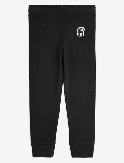 Microfleece trousers - fleecebukser - black