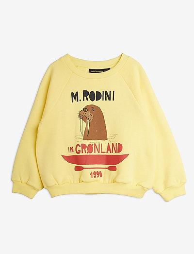Walrus sp sweatshirt - sweatshirts - yellow