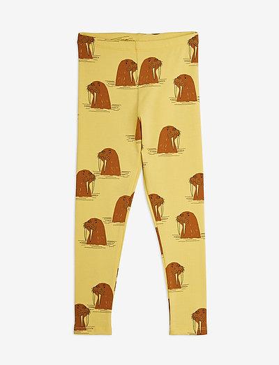 Walrus aop leggings - leggings - yellow