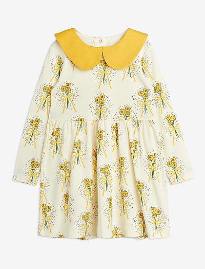 Winterflowers aop ls dress - kjoler & nederdele - yellow