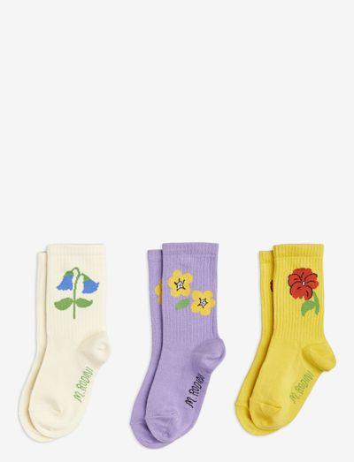 Snow flowers socks 3-pack - sokken - multi