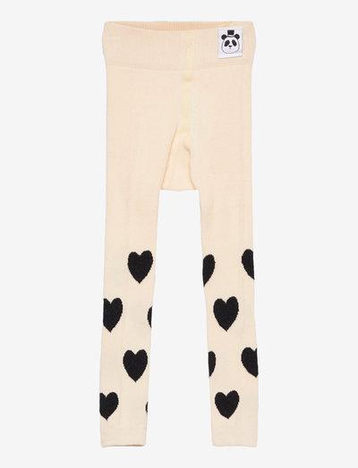 Hearts leggings - leggings - offwhite