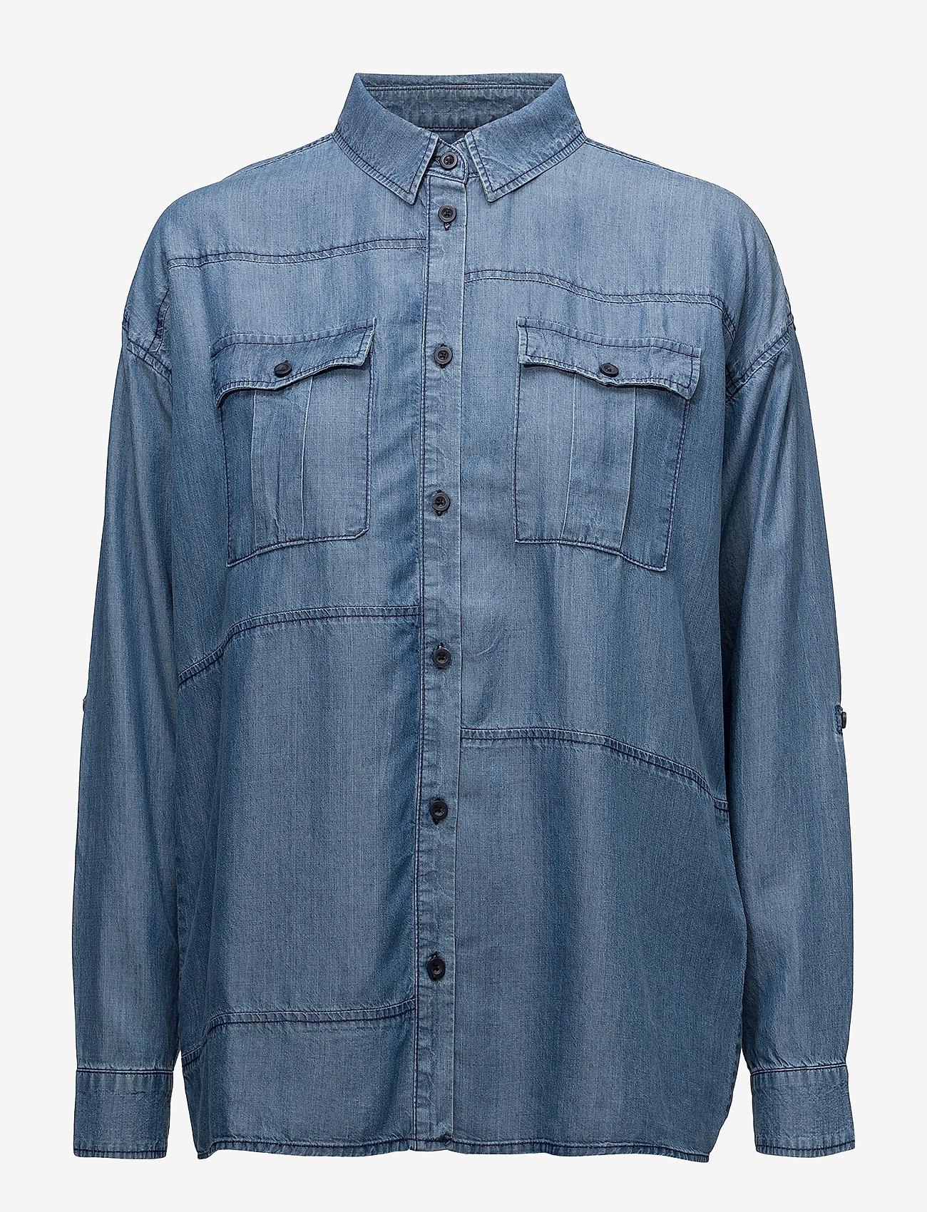 Minimum Cat - Bluzki & Koszule MEDIUM BLUE - Kobiety Odzież.