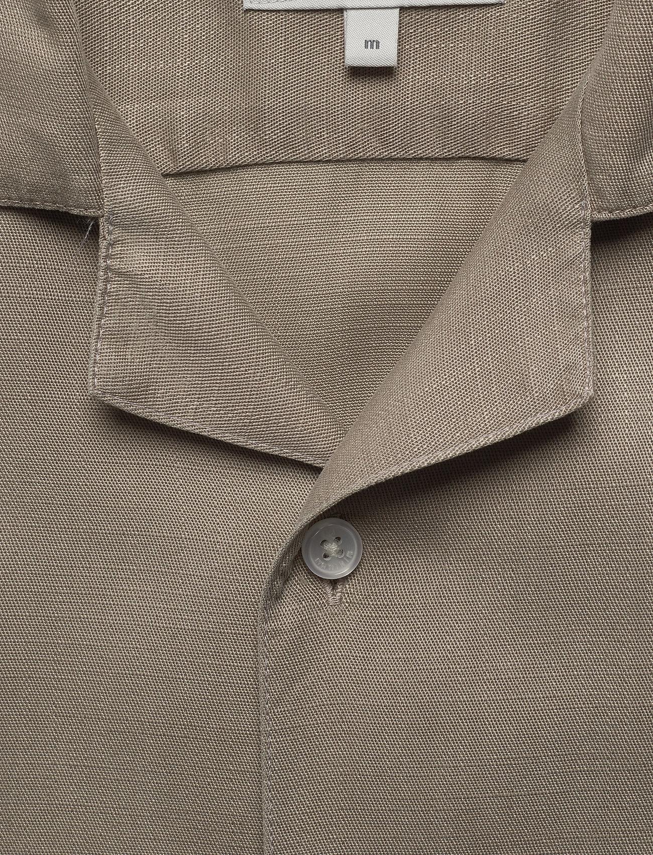 Minimum - emanuel - koszule lniane - khaki - 2