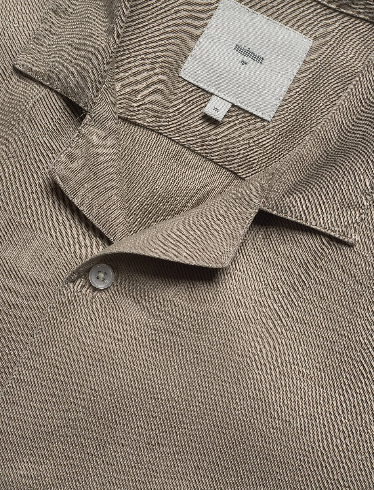 Minimum - emanuel - koszule lniane - khaki - 3