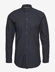Minimum - mario - chemises business - dark navy mel - 0