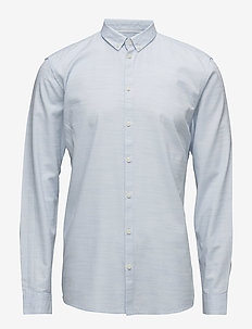 Crescent - basic shirts - light blue melange