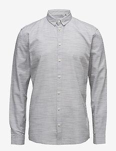 Crescent - basic skjortor - white/metal grey