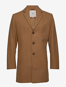 friedrich - wełniane płaszcze - tobacco brown