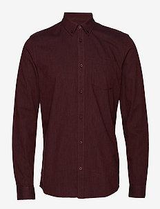 jay 2.0 - basic skjorter - bordeaux mel