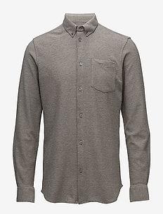jay 2.0 - basic skjortor - light grey melange