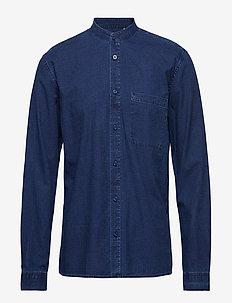 ishak - denim shirts - indigo blue