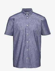 aleksander - linneskjortor - navy blazer mel