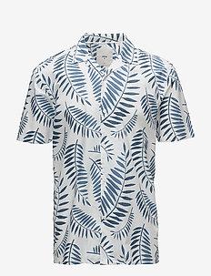emanuel - kortärmade skjortor - harbour blue
