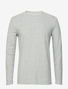 villy - langærmede t-shirts - aqua gray