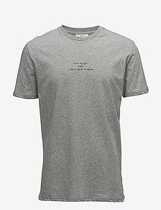 mirac - korte mouwen - light grey melange
