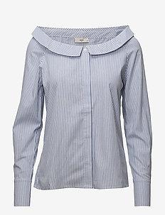 Jonna - overhemden met lange mouwen - lapis blue