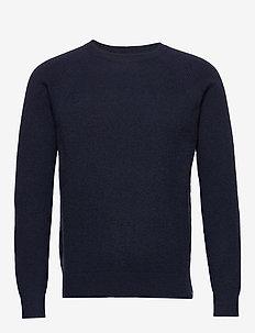 ommel - basic strik - navy blazer