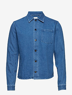 thisted - jeansjackor - medium blue
