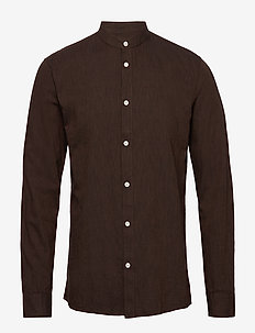 anholt - casual skjortor - potting soil mel.