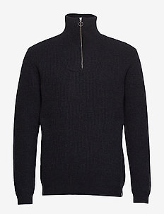 tombow - half zip jumpers - black