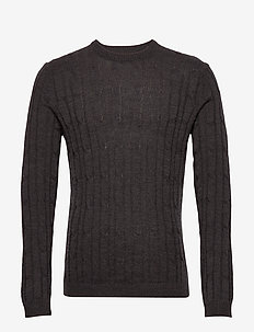 sunesen - basic knitwear - dark grey mel
