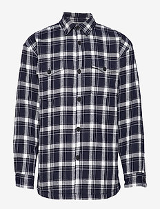 markussen - rutiga skjortor - dark saphire
