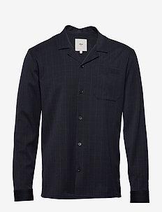 larsen - basic skjorter - dark saphire