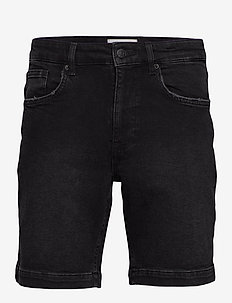 samden - denim shorts - black