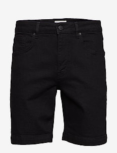 samden - denim shorts - black/black