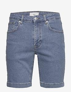 samden - jeansshorts - light blue