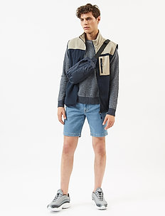 samden - denim shorts - dark blue