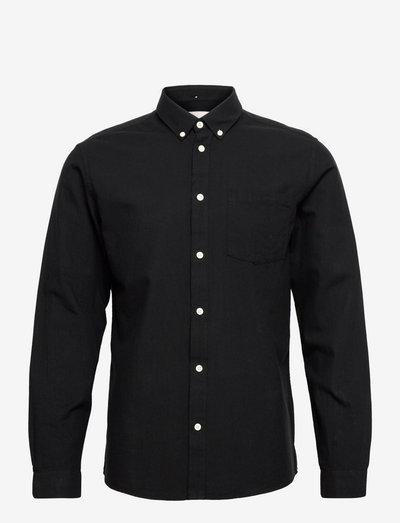 jay 2.0 - linnen overhemden - black/grey melange