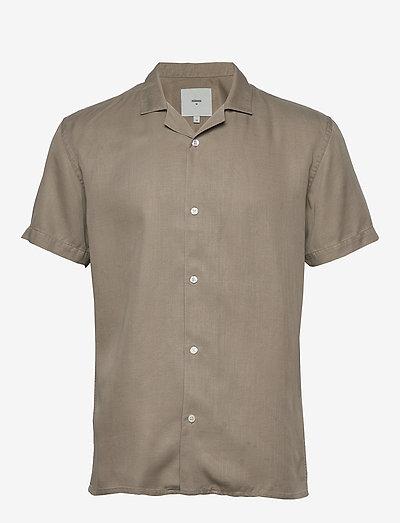 emanuel - geruite overhemden - khaki
