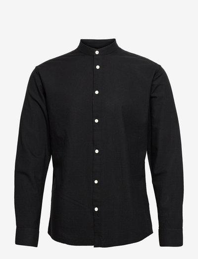 anholt - linnen overhemden - black/grey melange