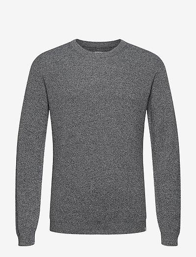 pedersen - knitted round necks - dark saphire melange