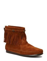 Hi Top Back Zip Boot - BROWN