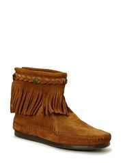 Hi Top Back Zip Boot - DUSTY BROWN
