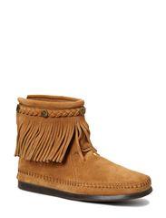 Hi Top Back Zip Boot - TAUPE