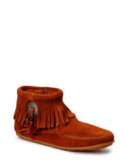 Concho Side Zip Boot - BROWN